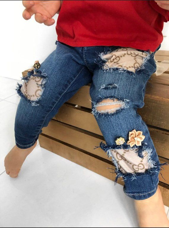 85a091f21a73  babyclothes  babyfashion Baby jeans girls gucci clothes toddler denim  embellished jeans for girls baby girl gucci jeans for girls