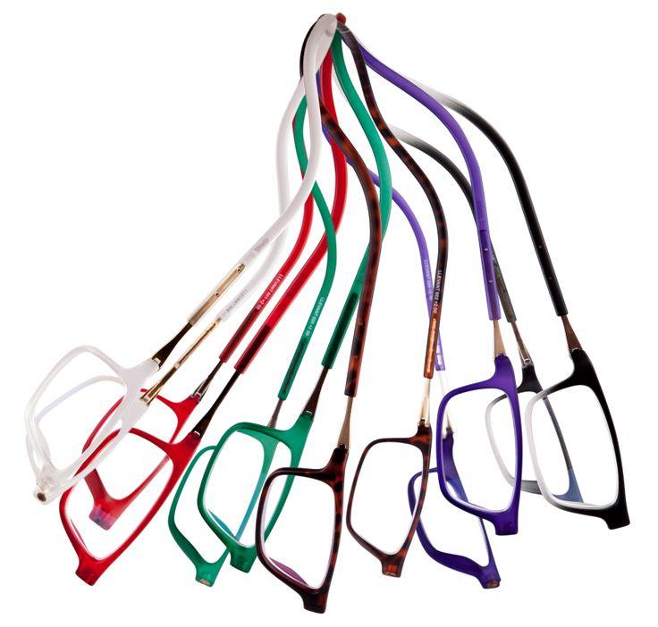 Óculos de leitura com fechamento frontal magnético e haste flexível ajustável. #eyewear #bereader  #Llevant