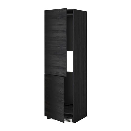 МЕТОД Выс шкаф д/холодильн или морозильн - под дерево черный, Тингсрид под дерево черный, 60x60x200 см - IKEA