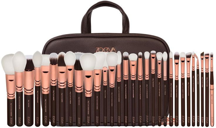 Hochwertige Makeup Artist Zoe Bag von ZOEVA in exklusivem Rose Golden Design: 30 professionelle Makeup-Pinsel + große Kosmetiktasche zum Verstauen von Pinseln und Tools | Jetzt online bestellen! #ZOEVA