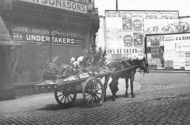 Watson & Sons Cabinet makers and undertakers, St. James St., Burnley