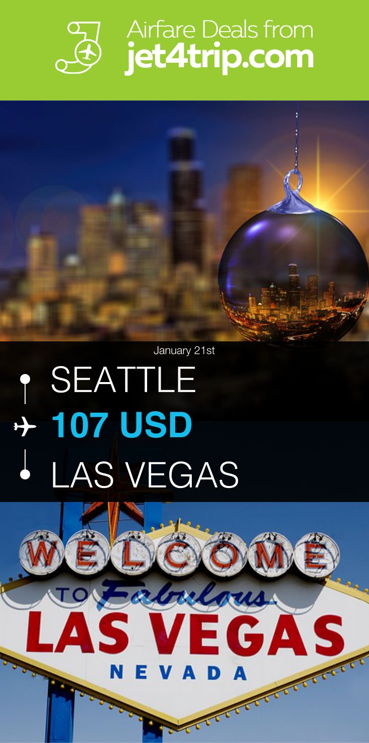 Flight from Seattle to Las Vegas for $107 by Spirit Airlines #travel #ticket #deals #flight #SEA #LAS #Seattle #Las Vegas #NK #Spirit Airlines