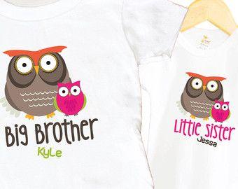 Pijl grote zus Shirt Set kleine broer Shirt SET door SweetTeezLLC