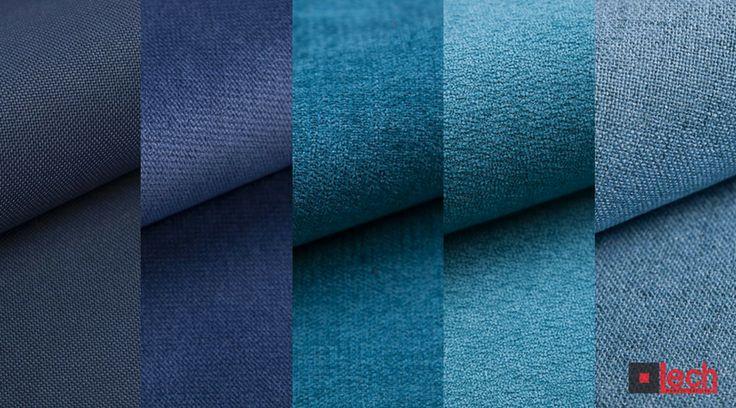 LECH modern fabrics odkrywa wszystkie kolory niebieskiego - od błękitu królewskiego, przez kobaltowy i modry, aż po amarantowy.