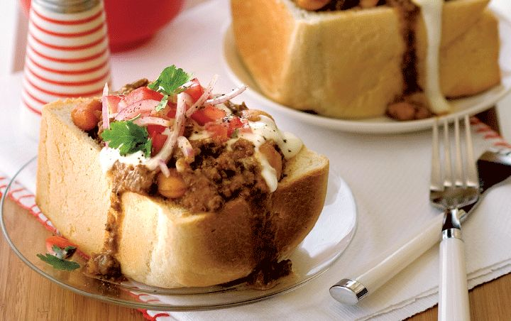 Relish authentic bunny chow ! Visit : http://www.picknpay.co.za/recipe-search-results/authentic-bunny-chow