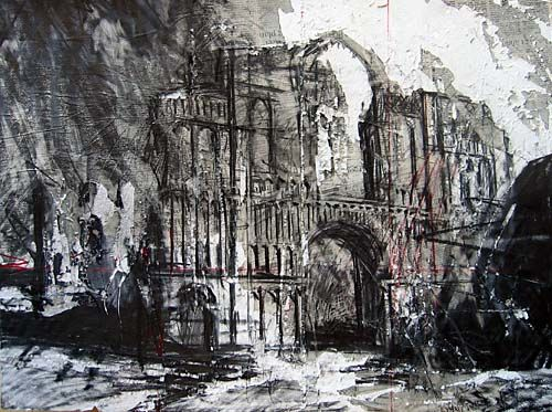 David Tress 'Castle Acre Priory, Norfolk', graphite on paper, 57x76cm, 2006