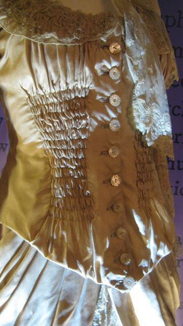 Close up of the jacket part of the wedding outfit worn by Natassja Kinski when she played Tess in Thomas Hardy's Tess of the d'Urbervilles.