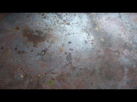Имитация ржавого металла. Imitation of rusty metal. Rostiges Metall nachahmen. - YouTube