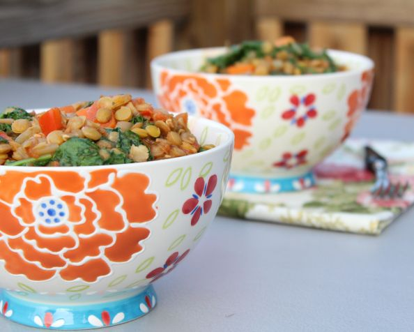 Lemony Lentil + Kale Rice Bowl | Kale | Pinterest