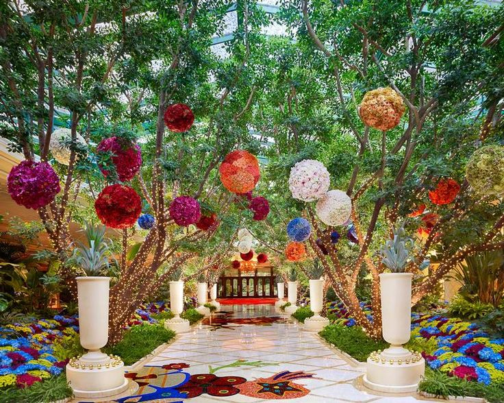 The atrium at the Wynn Hotel Las Vegas
