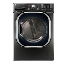 Lg 7.4-Cu Ft Stackable Electric Dryer (Black Stainless Steel) Energy Star Dlex4370k