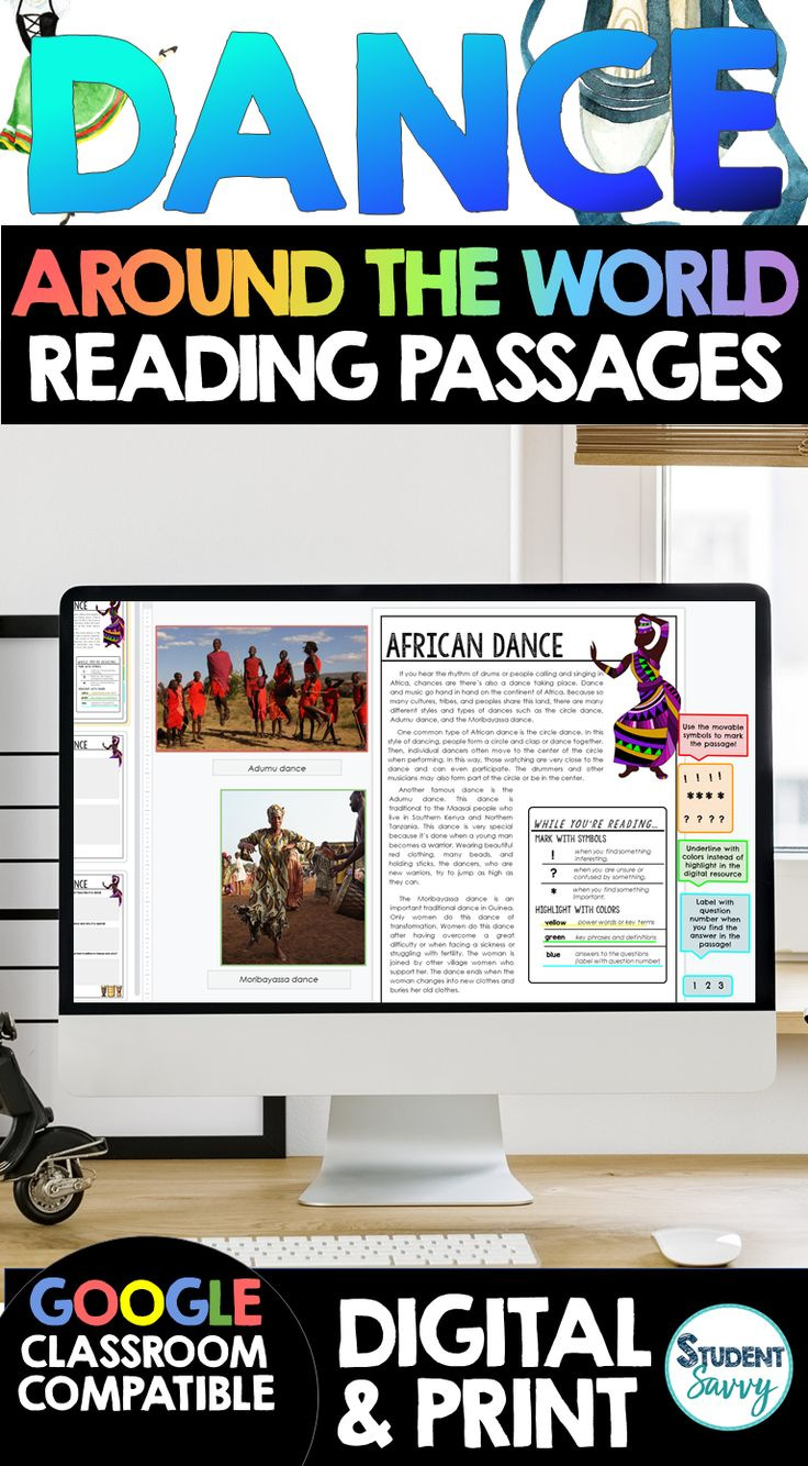 Dance Around the World Reading Passages in 2020 Reading