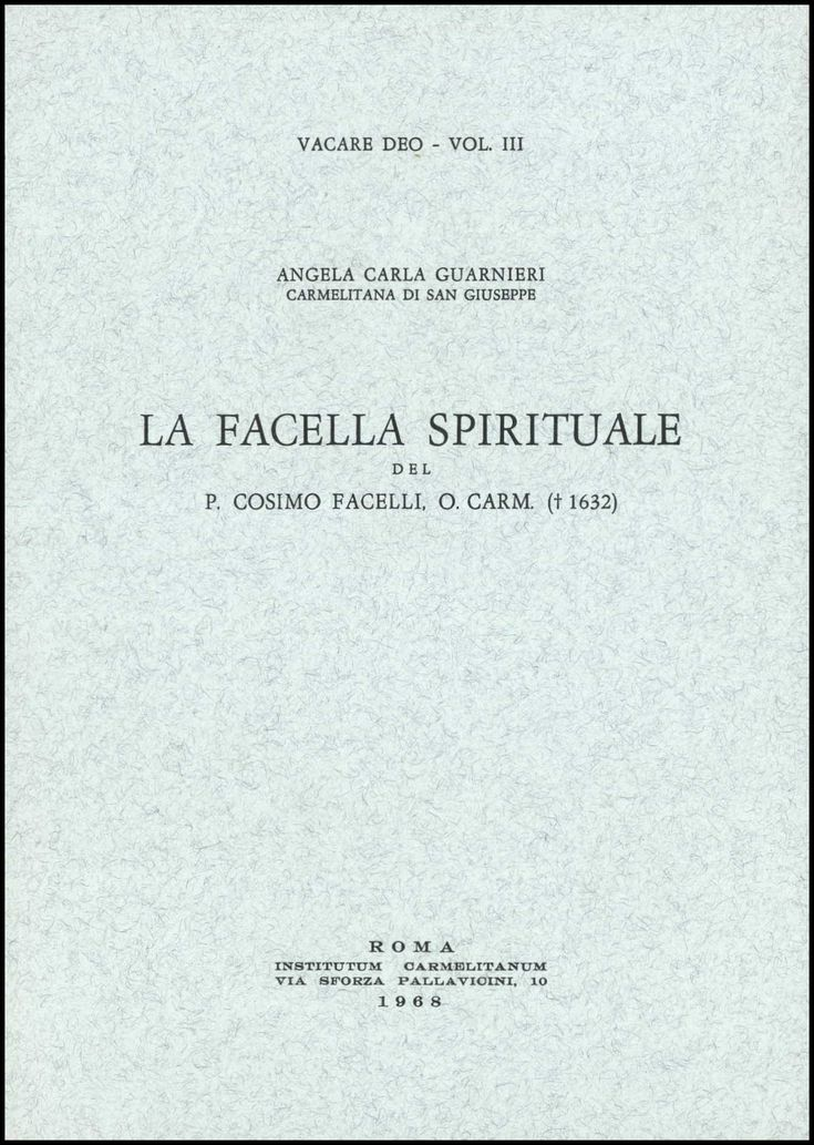 Spiritualità studi pubblicazioni