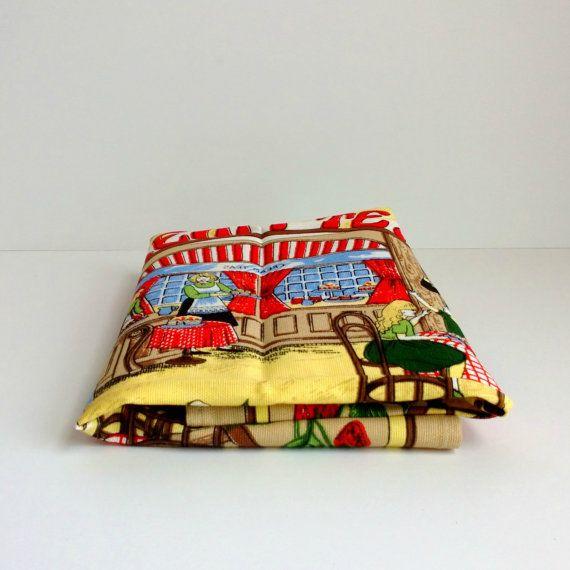vintage oversized Lamont cotton Cream Teas towel by ImSoVintage, $18.00