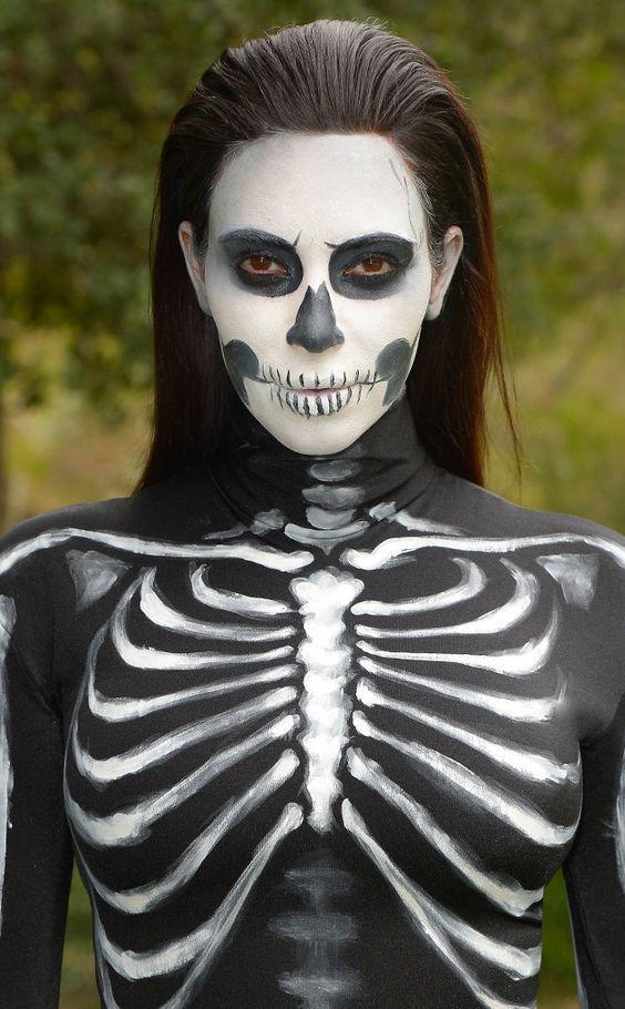 Best 25+ Skeleton makeup tutorial ideas only on Pinterest   Skull ...