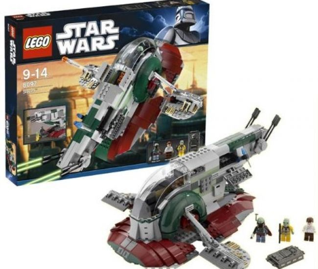 Build one of the most iconic ships from the Star Wars Universe Slave I but in Lego form. This lego set comes with 573 parts which allows you to build Slave I with rotating cockpit, firing missiles and weapons also comes with Han Solo, Boba Fett and Bossk lego figures.