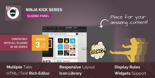 Ninja Kick: Sliding Panel for WordPress