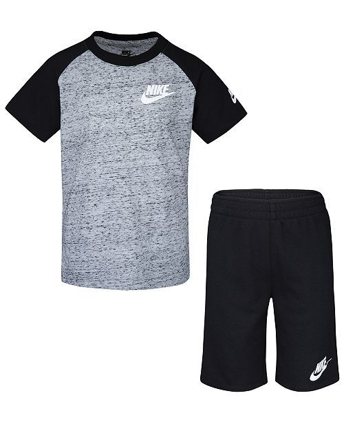 db0b17d7d Nike Little Boys 2-Pc. Speckled T-Shirt & Shorts Set & Reviews - Sets &  Outfits - Kids - Macy's
