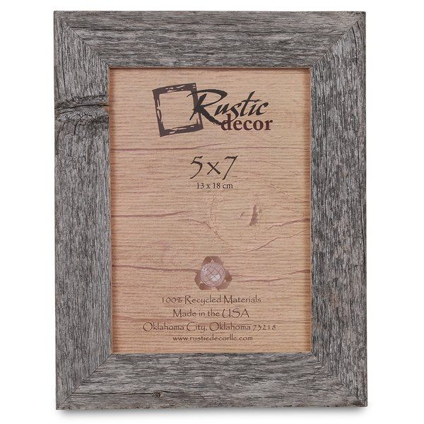 Give your favorite vacation moments or fond family memories eye-catching support with this handsome picture frame, crafted from reclaimed wood in the United States. Its natural hue is perfect set against a crisp white wall for an accentuating look, while its rectangle silhouette blends effortlessly into any casual space. Play up this piece's versatility by adding it to a rustic entryway alongside a clean-lined pine wood console table and handsome leather bench for a cohesive arrangement, ...