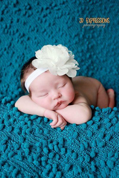 Baby Stirnband ♥ Babyfotografie von babyblumen auf DaWanda.com