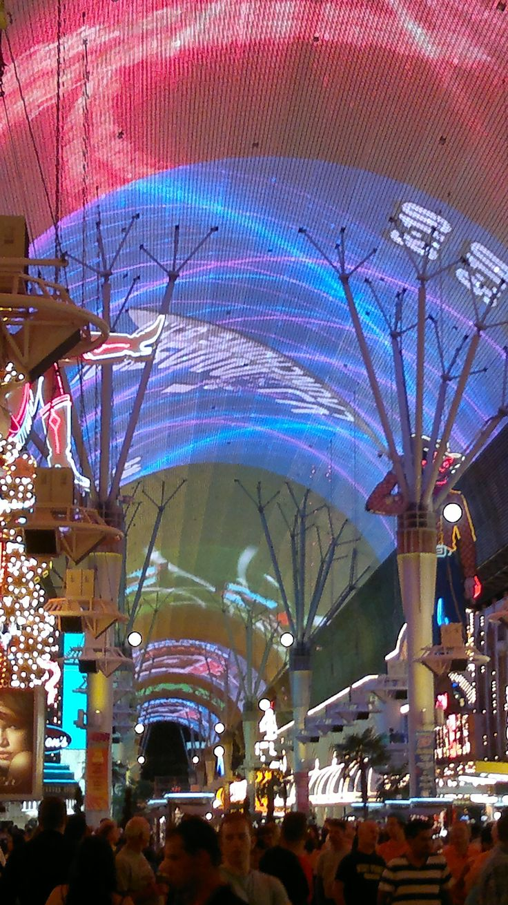Fremont Street, Las Vegas. One of the most amazing things to see!! They do a lazed light show down the entire street every hour on the hour! I have to go back with my hub!!!