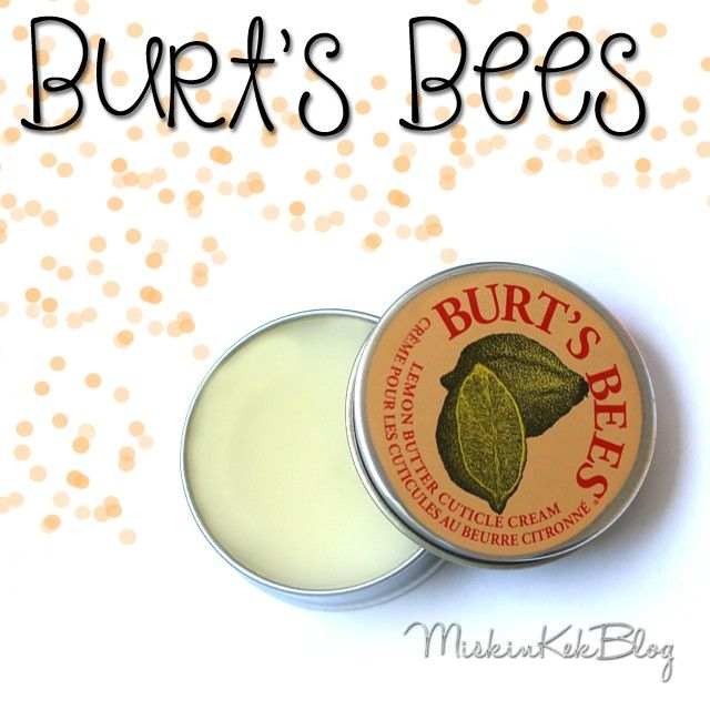 Burt's Bees Lemon Butter Cuticle Cream || Limon Yağı İçeren Tırnak Eti Bakım Kremi