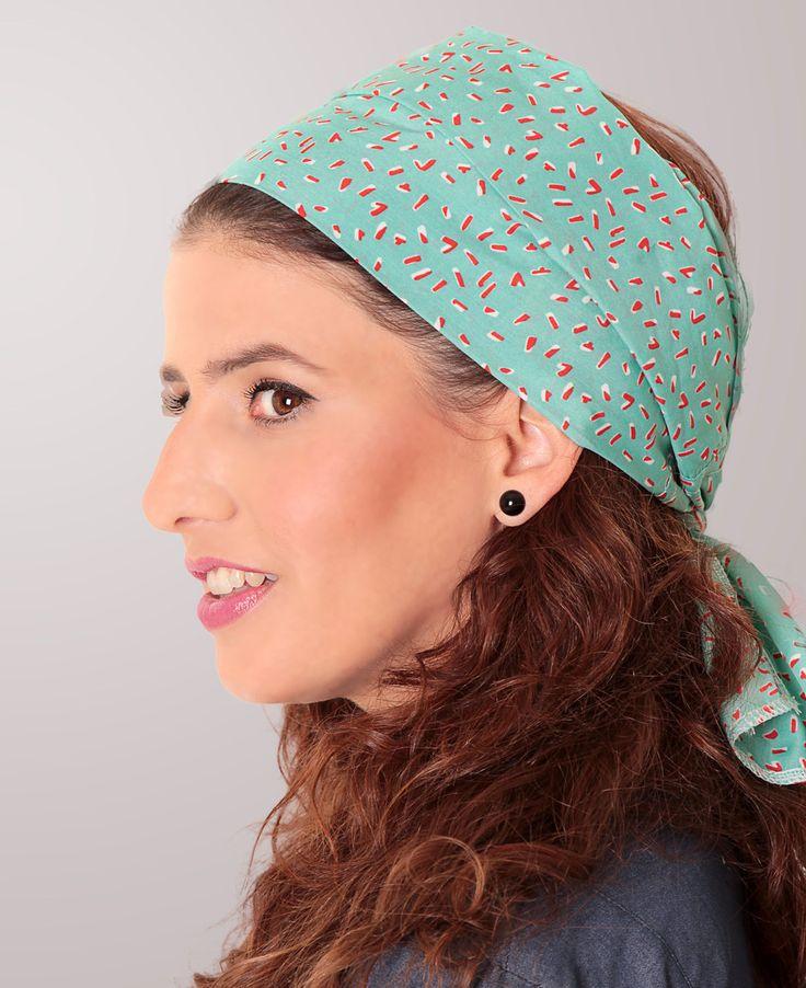 סרט בנדנה קשירה בטורקיז - dressroom http://dressroom.co.il/catalog/comp/TAMAR-LANDAU