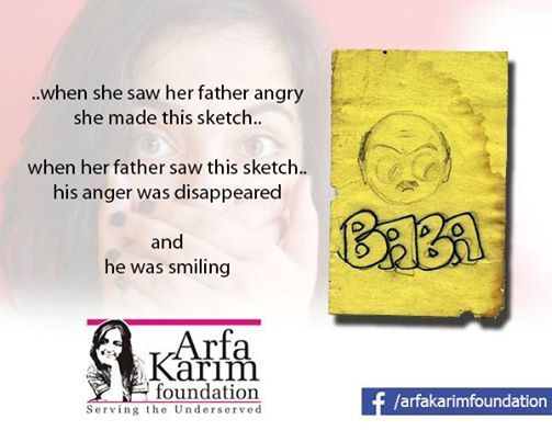 A sketch by Arfa Karim.