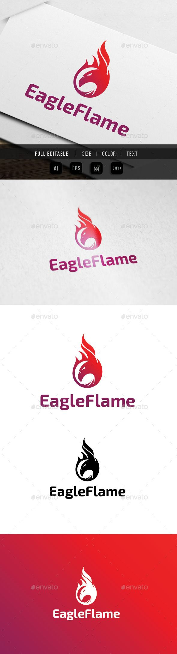 Eagle Flame / Fire Logo — Vector EPS #motorcycle #sport • Available here → https://graphicriver.net/item/eagle-flame-fire-logo/9911019?ref=pxcr
