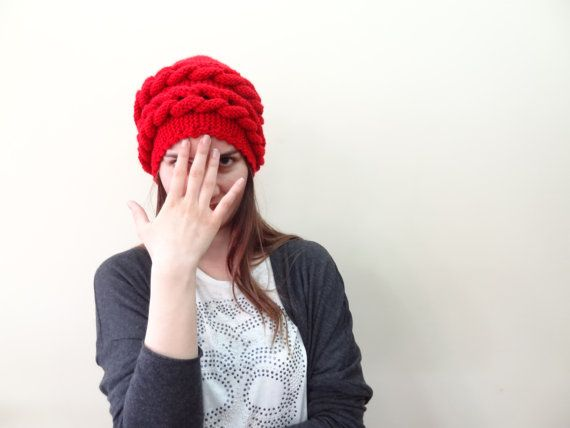 Red Wool Hat Beanie Grenadine Red Women Accessories by SwomanStore, $36.00