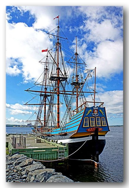 Hector was a ship famous for having been part of the first significant migration of Scottish settlers to Nova Scotia in 1773. The replica of the original ship is located at the Hector Heritage Quay, a heritage center run by local volunteers, in Pictou.