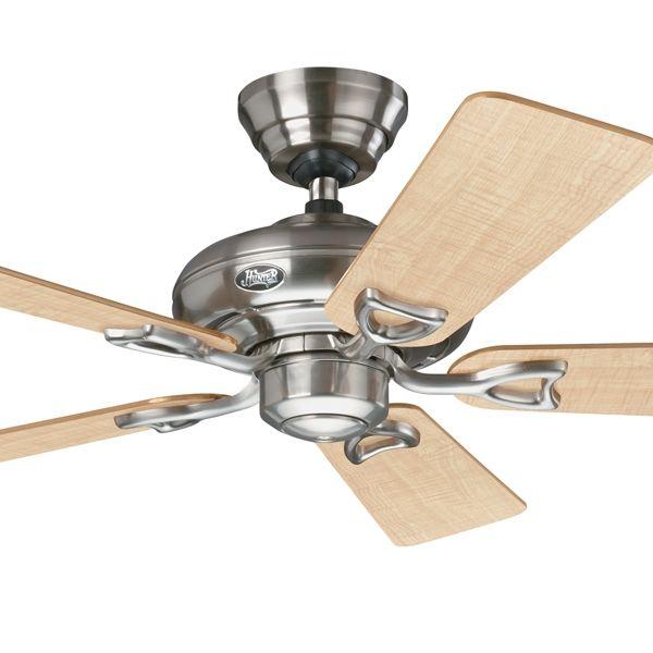 """Hunter Seville II 44"""" Nickel Ceiling Fan Timber 5 Blade"""