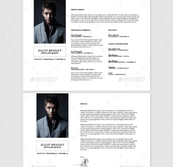 15 photographer resume template word psd format - Photographer Resume Template
