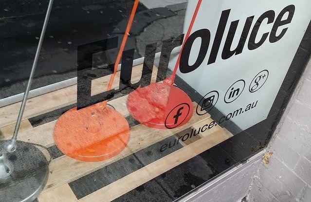 Black window decals for Euroluce