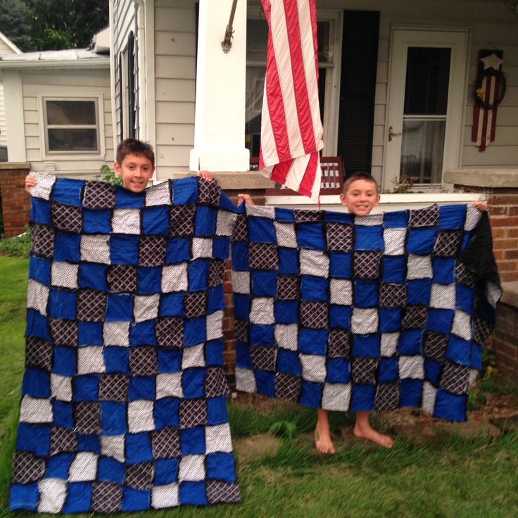 Thin Blue Line rag quilts