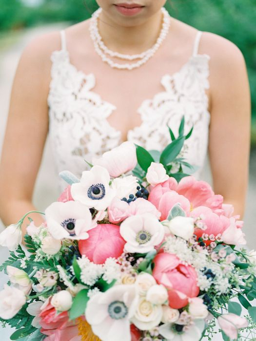 kelowna wedding photographer peony & anemone bouquet | photography | wedding details