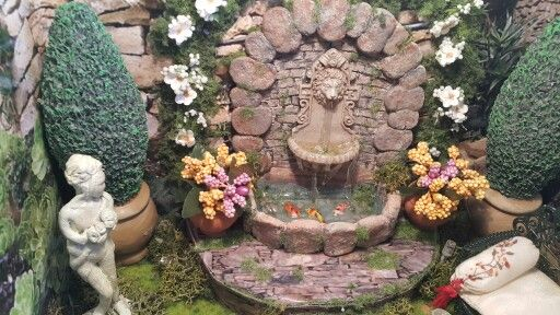 Tuscan garden fountain. Made by me