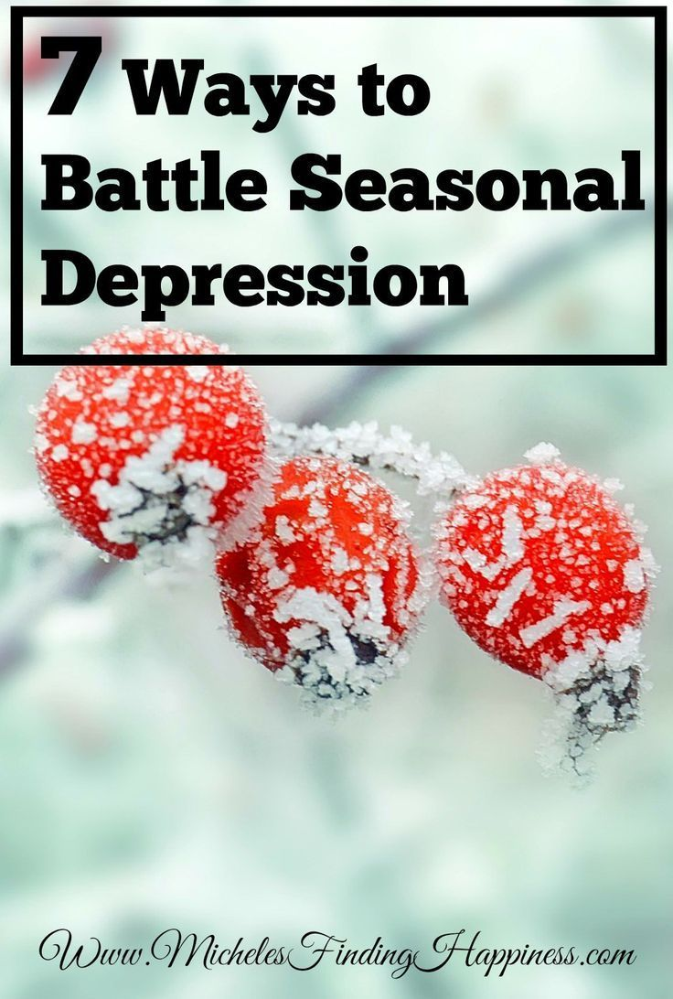 Seasonal depression effects 1.5 million Americans, it is a form of depression that often happens in the winter months. Try these 7 tips to fight seasonal depression.