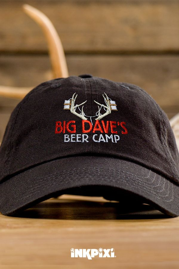 17a3f65a1 Beer Camp Black Embroidered Hat in 2019 | Custom Hats | Embroidered ...