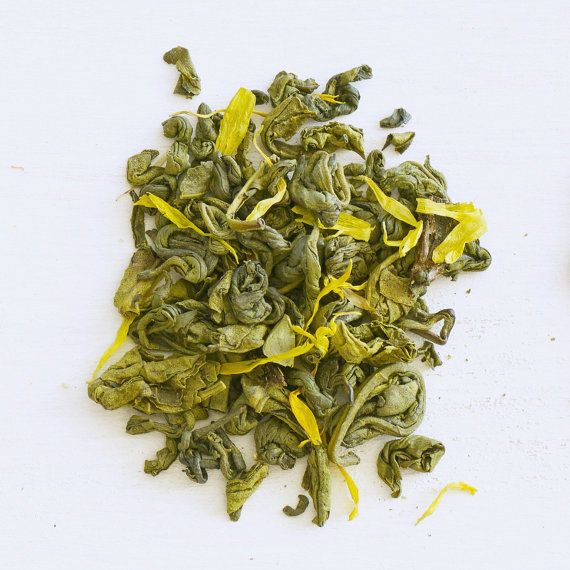 LEMON ZEST Organic Green Tea Honey Lemon Green Tea by PerkseTea