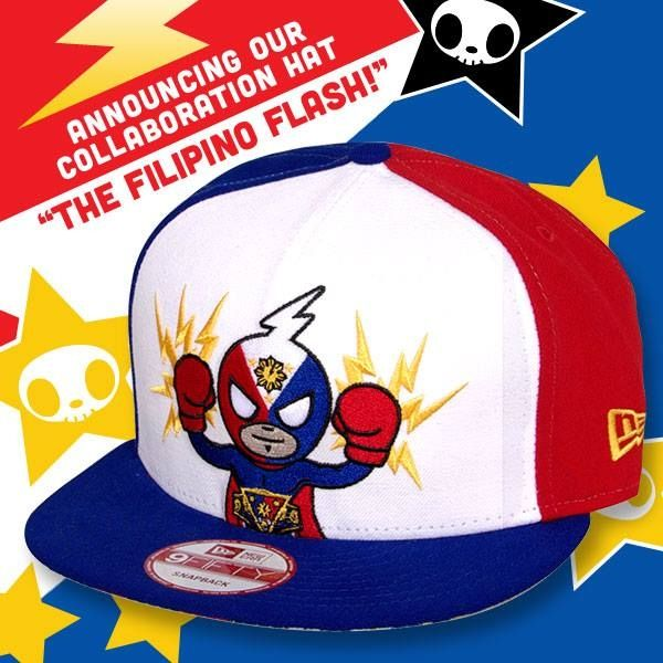 """Check out our super awesome tokidoki x Nonito Donaire Hat! This exclusive snapback features Donaire's Filipino emblem on the back and super cool artwork inspired by his boxing nickname 'The Filipino Flash'. Be sure to root for Nonito Donaire, a three division world boxing champion; former IBF, WBO, The Ring Super Bantamweight Champion; and the ESPN, YAHOO, and Boxing Writers Association of America 2012 """"Fighter of the Year, on Nov 9 @ HBO """"BOXING AFTER DARK"""".…"""