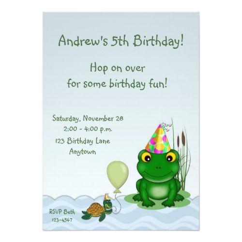121 best turtle birthday party invitations images on pinterest frog birthday invitation stopboris Images