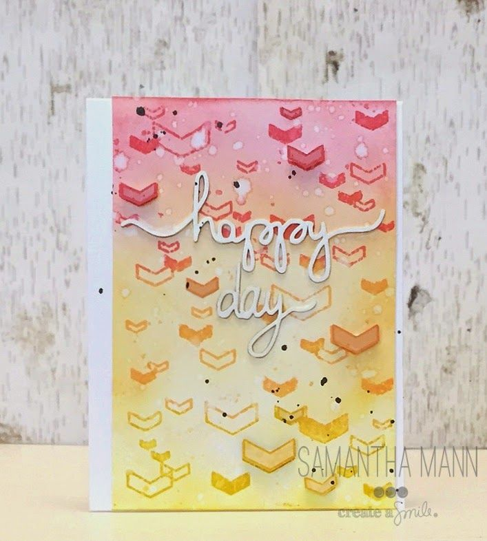 Create a smile Stamps: Floating Cevrons, Chipboard DT: Samantha Mann