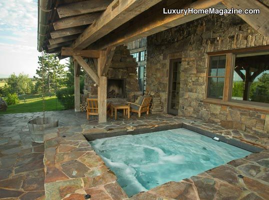 17 images about amazing backyards pools luxury home for Swim spa in garage