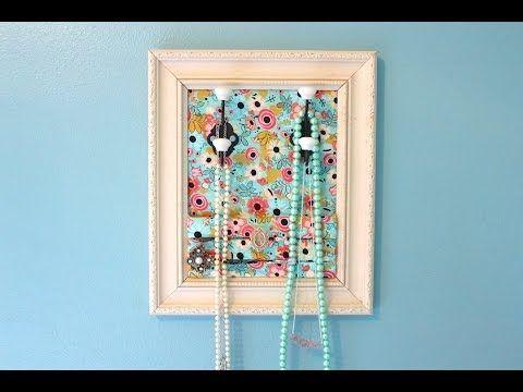 Good Things: DIY Framed Jewelry Organizer - Martha Stewart - YouTube