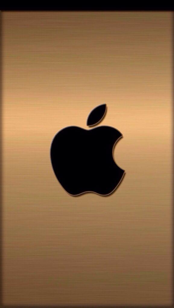 apple iphone logo hd gold. apple wallpaper, hd logo, iphone, iphone se, wallpaper patterns, smartphone hintergrund, wallpapers, gold logo