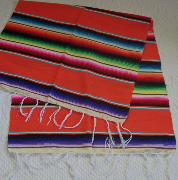 woven table runner . wool table runner . woven Mexican table runner . folk table runner . ethnic table runner . hand woven