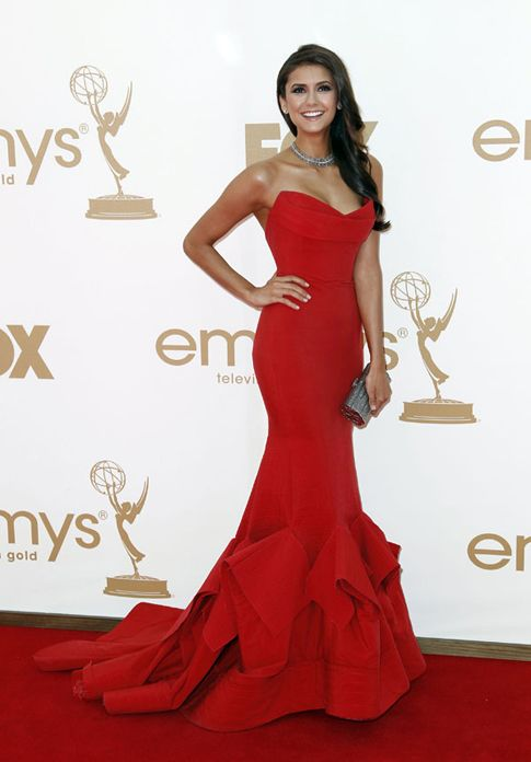 nina dobrev.  one of my personal favorite award show dresses EVER.  Donna Karan.