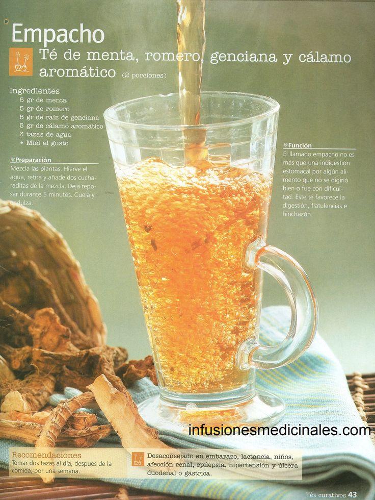 Conoce recetas de infusiones, tés y otros remedios caseros para la indigestión o empacho.