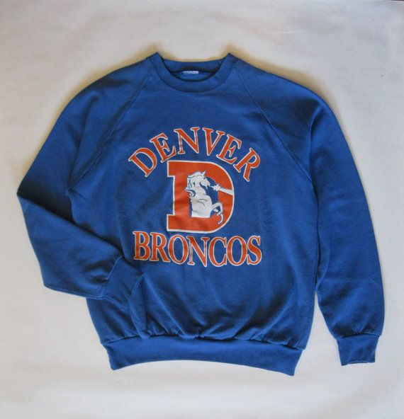 Vintage Denver Broncos sweatshirt early 1980's by afterglowvintage, $44.00